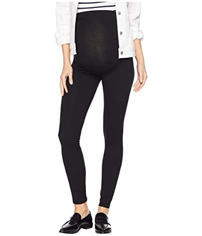 HUE Maternity Cotton Leggings (Black) Women