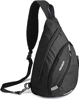 ANCHEER 多功能吊带胸包,小轻质学校单肩不平衡斜挎背包男女通用