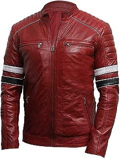Kainat Mens Leather Jackets Motorcycle Bomber Biker Genuine Lambskin 291