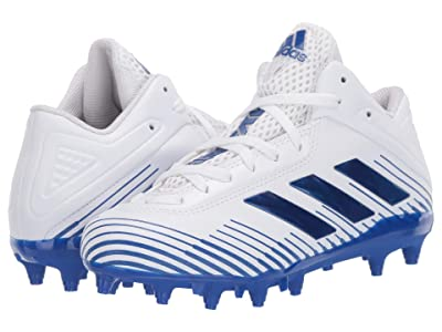 adidas Kids Freak Ghost J 20 Football (Little Kid/Big Kid) (Footwear White/Team Royal Blue/Footwear White) Kids Shoes