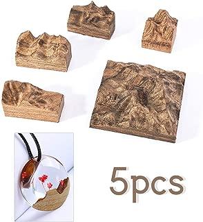 Finelnno 5 Piezas Sándalo para Resina Epoxi Manualidades Hacer Bisuteria DIY Micro Paisaje Resin Art para Colgante Artesanía Anillo (Sándalo)