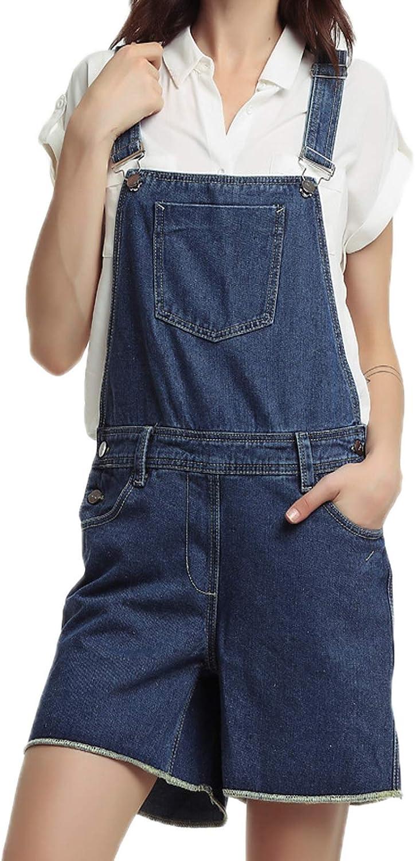 Cicilin Women's Denim Shorts Jumpsuits Playsuits Adjustable Straps Jean Shorts