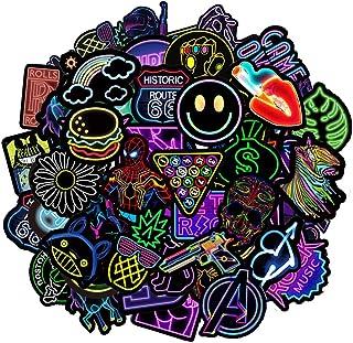 Jackify Aufkleber Pack 50-pcs, Neon Graffiti Stickers Decals, Vinyl Sticker Geschenke Spielzeug für Laptop, Gepäck, Skateb...