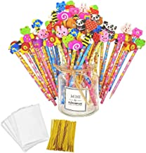 JZK Set 50 matita in legno con gomma matite grafite con gomme bomboniera regalino per festa bambini compleanno battesimo comunione regalo compleanno regalo Natale per bambina bambino