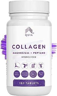 Colageno con Magnesio 4-EN-1 (60 DIAS), Acido Hialuronico, Vitamina C, Vitamina D3 180 Comprimidos, Hidrolizado PEPTAN, Articulaciones, Huesos, Piel, Cabello y Previene Lesiones +2400MG +MEDICOS