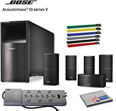 Bose Acoustimass 10 Series V Home Theater Speaker System (Black) Bundle with Cable Ties, Surge Protector and Microfiber Cloth