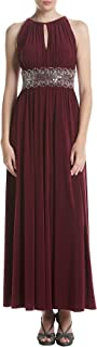 R&M Richards Women's Beaded Waist Gown