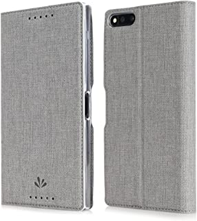 Razer Phone Case,Feitenn Razer PU Leather Wallet Flip Smart Cover Stand Kickstand Card Holder Magnetic Closure Clear TPU Bumper case For Razer Phone (Grey, Razer)