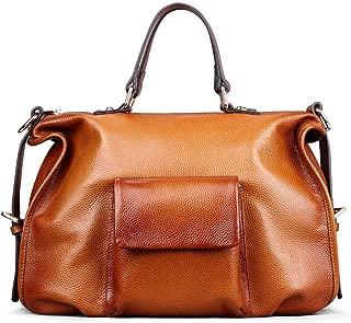 Women's Personality Pocket Bag Leather Fashion Retro Shoulder Bag Ladies Exquisite Handbag(FM)