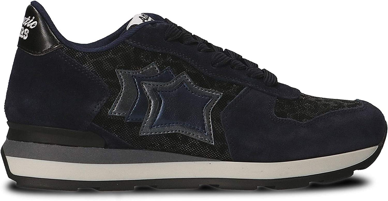 ATLANTIC STARS Women's VEGAANY81N bluee Fabric Sneakers