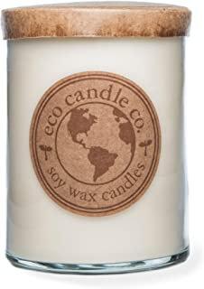 Eco Candle Co. Recycled Candle, White Tea Ginger, 16 Oz. - 100% Soy Wax, No Lead, Kraft Paper Label & Lid, Hand Poured, Ph...