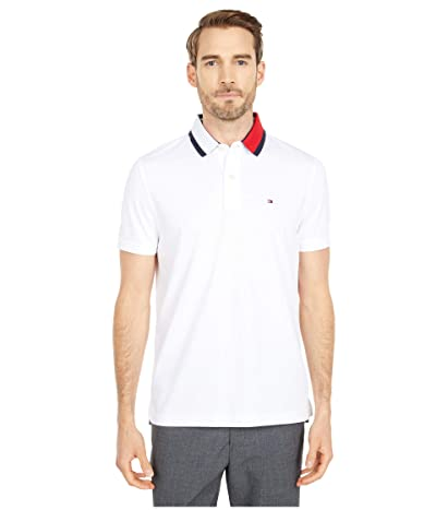 Tommy Hilfiger Adaptive Alan Custom Fit Polo Shirt with Magnetic Buttons (Bright White) Men