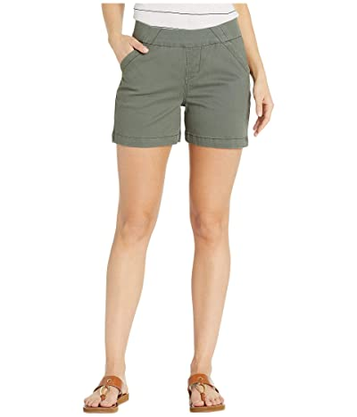 Jag Jeans 5 Gracie Pull-On Shorts in Twill (Jungle Palm) Women
