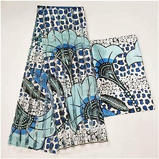 African Silk Wax Fabric Digital Printing Satin Wax Fabric For Dress African Wax Silk Fabric With Chiffon Set For Party Dre...