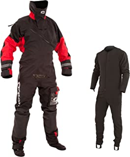Typhoon Max B Drysuit Dry Suit with Con Zip Black Red. Breathable - Quad Ply Breathable Fabric - Comfortable Internal Braces