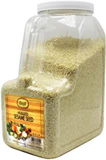 Gel Spice White Hulled Sesame Seeds 5 Lb - Bulk Size