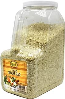 Gel Spice White Hulled Sesame Seeds 5 Lb - Bulk Size