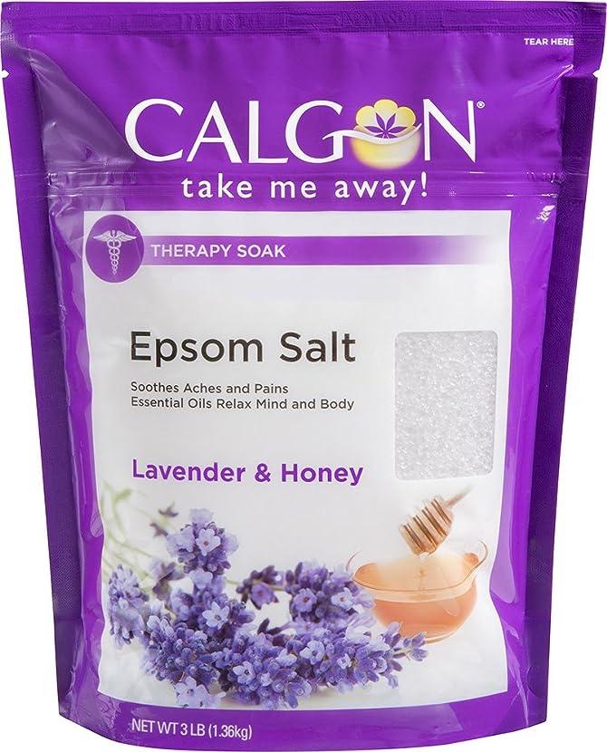 煙マスク縁Calgon リジュエプソム塩(ラベンダーと蜂蜜、48オンス)