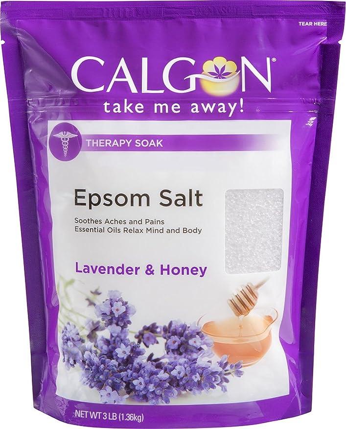 運命スリチンモイさようならCalgon リジュエプソム塩(ラベンダーと蜂蜜、48オンス)