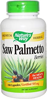 Nature's Way, Saw Palmetto Berries, 585 mg, 180 Capsules