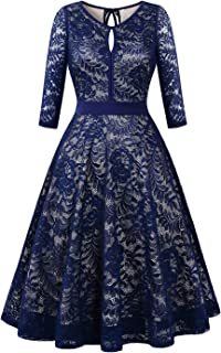 Lace Cocktail Dress for Women, Sleeveless Party Dress A-line Formal Lace Dress