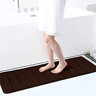 "Memory Foam Soft Bath Mats - Non Slip Absorbent Bathroom Rugs Rubber Back Runner Mat for Kitchen Bathroom Floors 16""x47"", ..."