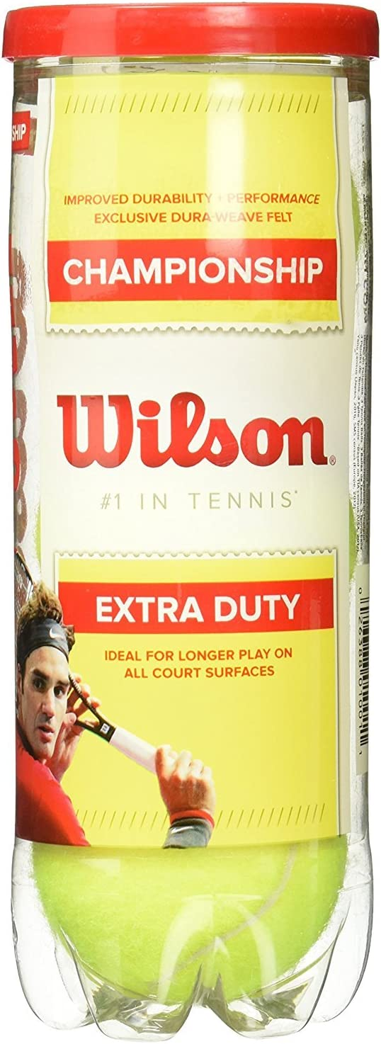 Wilson Championship Extra Duty Tennis Balls, 24 Cans