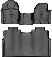 WeatherTech Custom Fit FloorLiner for Ford F-150-1st Row Over-The-Hump & 2nd Row (Black)