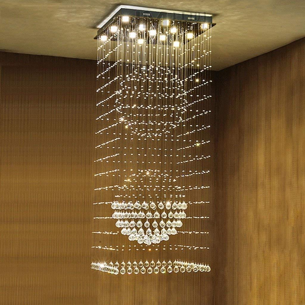 Mark la Escalera de Caracol de iluminación de arañas de Cristal, dúplex, Edificios Villa Vast salón de Luces de araña de iluminación Interior,8 Luces / 60 * 60 * 160 cm: Amazon.es: Deportes y aire libre