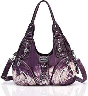 Angel Kiss womens Washed Leather Handbags