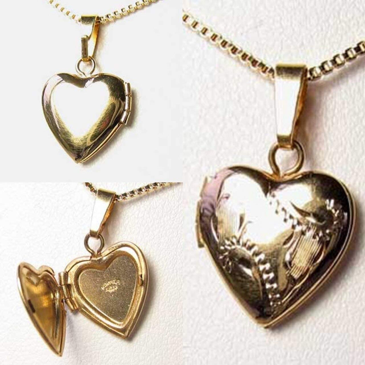 Valentine's Engraved 14Kgf Heart Locket 10535 online shop Online limited product Pendant