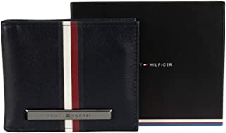 Tommy Hilfiger Men's Corporation Stripe Mini Money Wallet, Blue