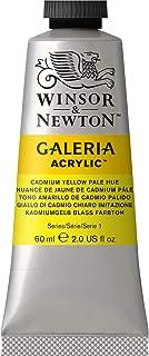 Winsor & Newton 2120114 Galeria 60ml Acrylic Paint, 60-ml Tube, Cadmium Yellow Pale Hue