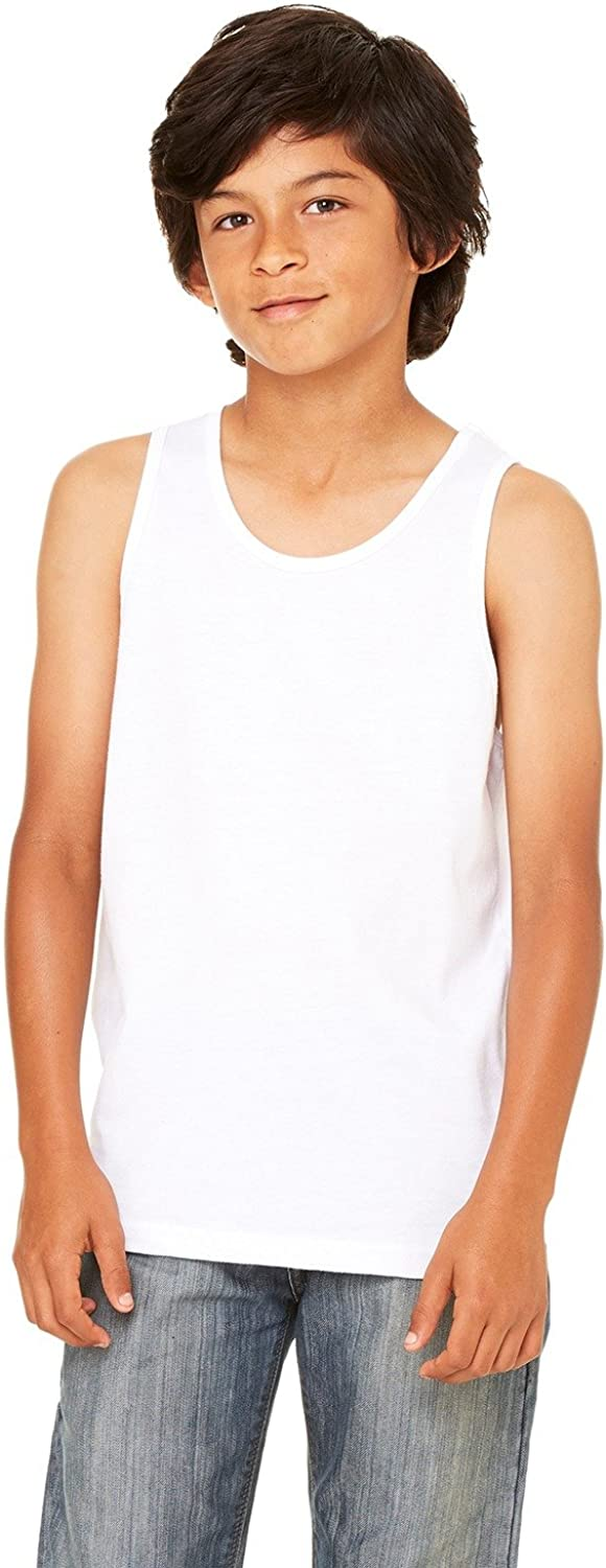 Bella + Canvas Youth Jersey Tank Top-M (White)
