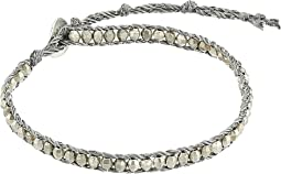 Antique Silver Bracelet on Shindo Cord