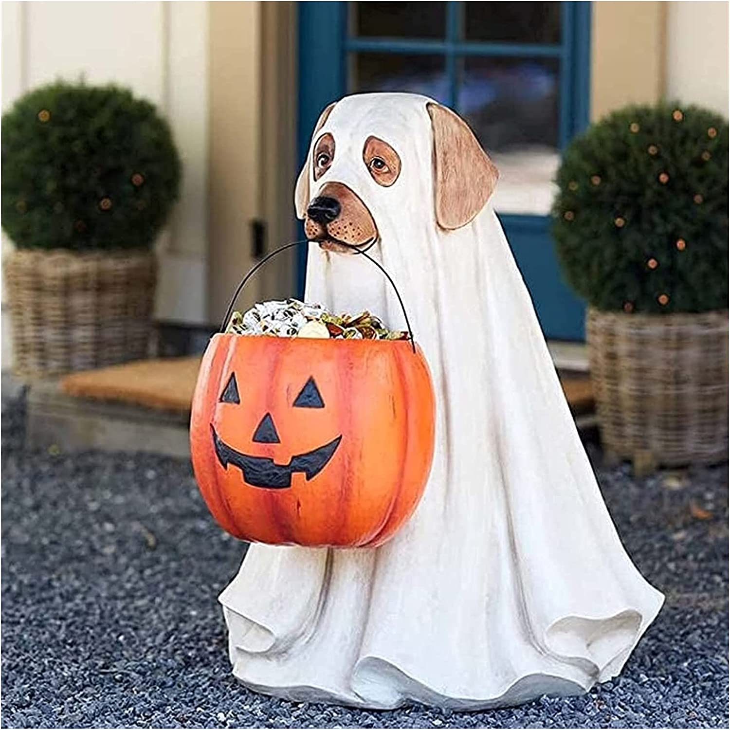 WEFVB Halloween Outdoor Life-Size Candy New item Bowl Dog Bombing new work Ghost