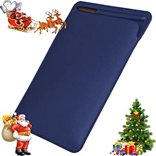 IPad Pro 12.9 Sleeve Case,Portable Elegant Ultra Slim PU Leather Protective Cover Case Bag with Apple Pencil Stylus Slot Holder for Apple IPad Pro 12.9 Inch (Blue 12.9)