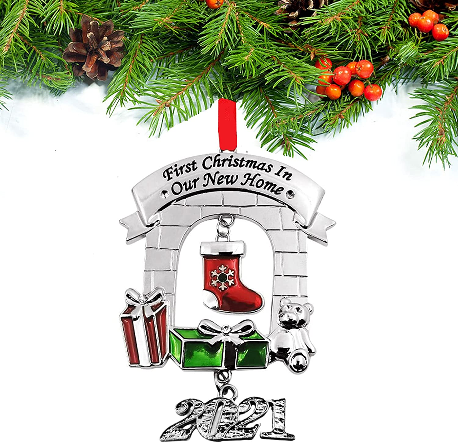 Reservation FKOG Choice 2021 Metal Our First Christmas Ho Ornaments Home in New