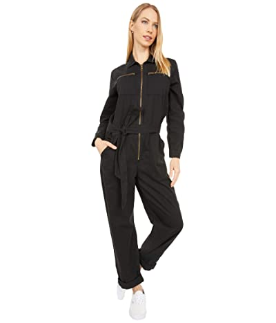 Lucky Brand Tie Front Boilersuit (Lucky Black) Women