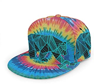 grizzly og bear tie dye snapback hat