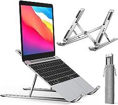 ivoler Support Ordinateur Portable, Support PC Portable Pliable à Surélever 10 Angle Réglable, Antidérapant en Aluminium Ventilé Stand Compatible avec Laptop, Tablet –Argent