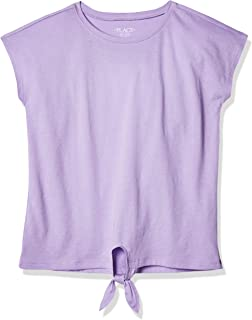The Children's Place girls Tie Front Short Sleeve Top Shirt