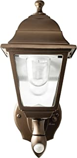 MAXSA Innovations 46219 Battery-Powered Motion-Activated Wall Sconce in Dark Copper