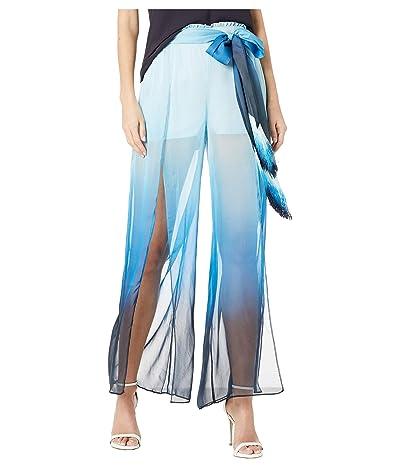Jonathan Simkhai Ombre Wide Leg Pants (Magenta Ombre) Women