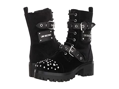 LOVE Moschino Buckle Ankle Boot