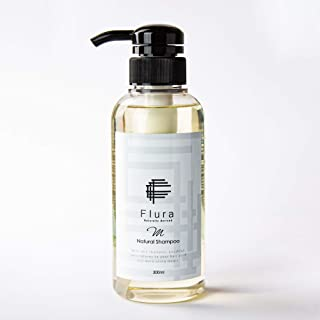 [Amazon限定ブランド] Flura フルーラ ナチュラル シャンプーM 300ml アルガンオイル配合 さらさら 潤い 泡立ち コラーゲン ハチミツ 16種類の天然オイル配合