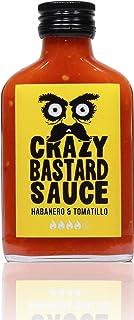 Crazy Bastard Sauce - Habanero & Tomatillo - Scharf und fruchtig preisgekrönte Chilisauce. Perfekt ausgewogen in Geschmack und scharfe der zum jedem Gericht passt. 1 x 100ml flasche