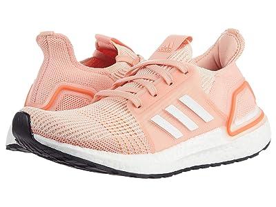 adidas Kids GS UltraBOOST 19 (Big Kid) (Linen/Footwear White/Glow Pink) Boy