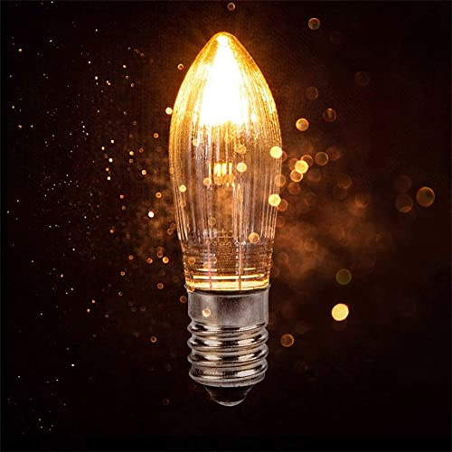 """discount 3 Watt 16V Mini outlet sale Light Bulbs Decorative LED Light Bulb for Nightlight Warmer Wax Diffuser Candle outlet online sale Warmers, E10 Candelabra Base, Incandescent Bulbs, 1.8"""" Long, Non-Dimmable, 10 Packs outlet sale"""