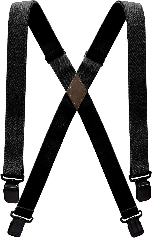 Arcade Belt Kids Adventure Suspenders: 4 Point Heavy Duty Elastic Webbing Durable Metal Clips Jessup Black